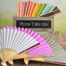 personalized folding fans personalized paper label folding fan favors