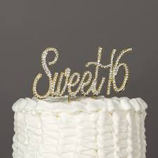 16 cake topper sweet 16 cake topper gold rhinestone birthday party