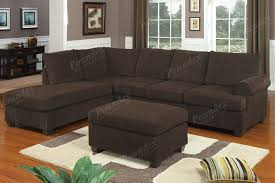 Soft Sectional Sofa New Ideas Chocolate Brown Sectional Sofa With Details About