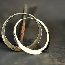 14k gold hoop earrings handcrafted solid 14k gold hoop earrings medium endless hoops 1 5
