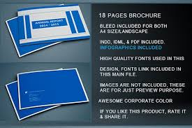ind annual report template indesign annual report template brochure templates creative market