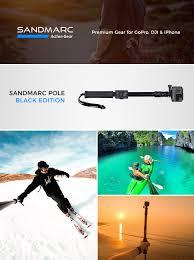 gopro hero 5 amazon black friday amazon com sandmarc pole black edition 42 103 cm waterproof