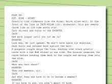 screenplay script template free resume