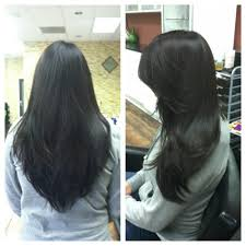 this is a perfect long v shaped long layered texted hair cut see