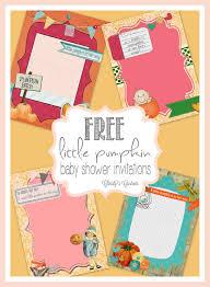 Walmart Baby Shower Invitation Cards Template Pumpkin Baby Shower Invitations