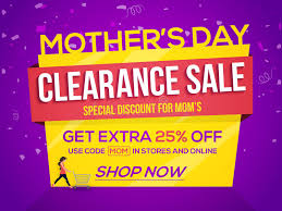 s day clearance s day clearance sale poster banner or flyer stock