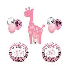 amazon com safari it u0027s a giraffe pink zebra balloon baby