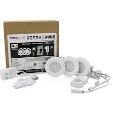 under cabinet led puck lights rgb led under cabinet lighting kit 2w led puck lights torchstar