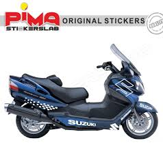 adesivi stickers suzuki burgman 650 kit n 2 pima stickerslab
