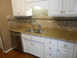 Kitchen Counter Backsplash New Venetian Gold Granite Counter Tops Ogee Edge 3x6 Walnut