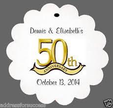 50th anniversary favors 24 personalized 50th anniversary wedding favor scalloped tags