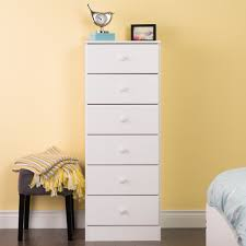 tall drawer chest white finish contemporary solid wood bedroom