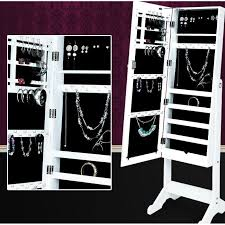 meuble chambre b armoire à bijoux rangement miroir meuble chambre blanc achat