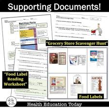 food label reading lesson free