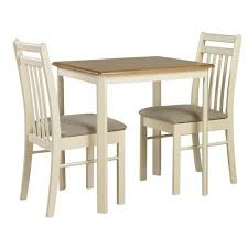Ascot Solid Wood Natural  Ivory Kitchen Dining Table And  Chairs - Kitchen table for two