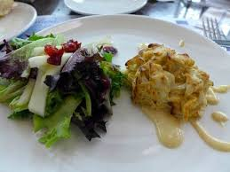 cuisine le gal signature crab cake with salad picture of sea foods