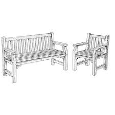 How To Build A Garden Bench Woodworking Project Paper Plan To Build English Garden Bench And Chair