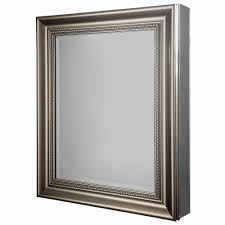 Brushed Nickel Mirror Bathroom by Glacier Bay 24 In W X 29 1 8 In H Framed Recessed Or Surface
