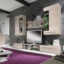 Living Room Set  In Sonoma Oak With LED Lighting - Oak living room sets