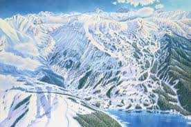 Ski Resorts In Colorado Map by Scrap Ridge Colorado James Niehues Map Artist Ski Maps