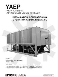 high ambient air cooled liquid chiller heat exchanger duct flow