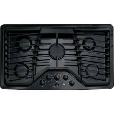 Ge Modular Cooktop Shop Ge Profile 5 Burner Gas Cooktop Black Common 36 In