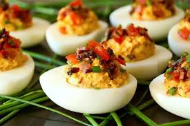 deviled egg dishes smoky tomato bacon chipotle deviled eggs recipe weekend recipes