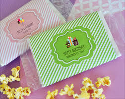 popcorn favors birthday microwave popcorn bags kid s personalized party favors