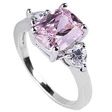 sapphire engagement rings queenwish pink sapphire engagement rings princess cut