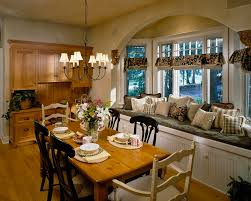 Window Seat In Dining Room - bay window seat for comfortable seating area at home