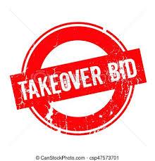 takeover bid takeover bid rubber st grunge design with dust vector