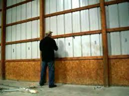 removing pole barn siding youtube