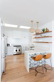 cognac leather kitchen stools with lights transitional