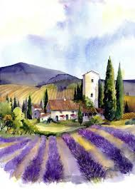 italian lavender farm scene with a terry madden vibe pejzaze