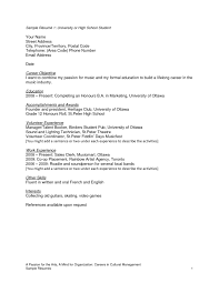 Graduate Resume Resume Examples For Highschool Students Canada Augustais