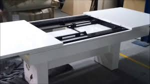 Retractable Dining Table by Dining Table Automated Extensible Mechanism Youtube