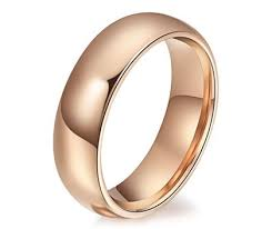 wedding ring bands engravable s tungsten domed wedding rings bands for him and
