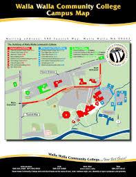 Walla Walla Washington Map by Buildings Walla Walla Community College