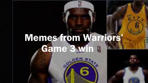 Warriors Memes - twitter lit up with memes after the warriors stunning game 3 win in