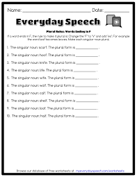 100 single and plural nouns worksheets adjectives