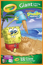giant coloring pages nickelodeon spongebob