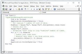 visual basic for loop how to loop through rows until blank in excel column