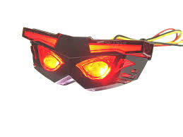 universal led tail lights mask style rear led tail l for derbi xtreme and many others