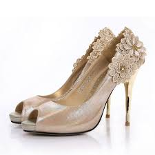 wedding shoes canada chagne heels stiletto heel peep toes satin fashion