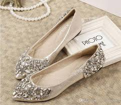 wedding shoes rhinestones best 25 bridal flats ideas on flat bridal shoes
