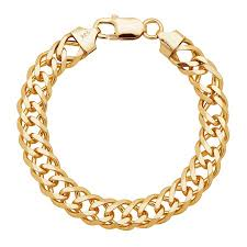 chain bracelet sterling silver images Double curb link chain bracelet in 18k gold plated sterling silver jpg