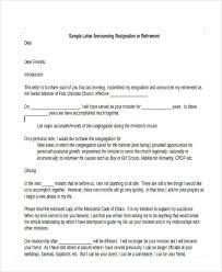 6 sample retirement resignation letters free sample example