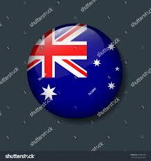 Austailia Flag Australia Flag On 3d Button National Stock Vector 767803300