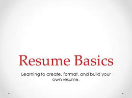 Build Your Own Resume Resume Writing The Resume An Important Job Search Tool Purpose