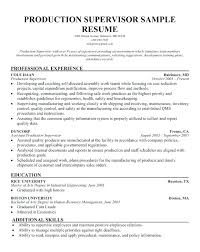 supervisor resume templates kitchen supervisor resume sle security supervisor resume security